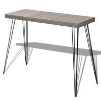 vidaXL Table console 90 x 30 x 71,5 cm Gris