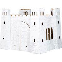 Maison de jeu en carton à colorier 'Chateau-fort'