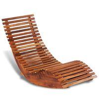 vidaXL Chaise longue basculante Bois d'acacia