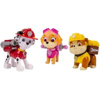 Paw Patrol Pack d'action Chiots Marshall/Skye/Rubble