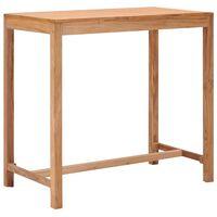 vidaXL Table de bar de jardin 110x60x105 cm Bois de teck solide