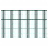 vidaXL Panneaux de clôture de jardin 2D 2,008x1,23 m 18 m total Vert