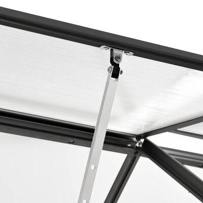 vidaXL Serre Anthracite Aluminium 5,89 m²