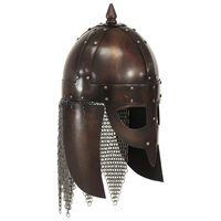 vidaXL Casque de guerrier viking antique pour GN Cuivre Acier