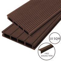Jardí - Lame De Terrasse En Composite De 10m², Couleur «conker Brown»