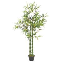 vidaXL Plante artificielle avec pot Bambou Vert 160 cm