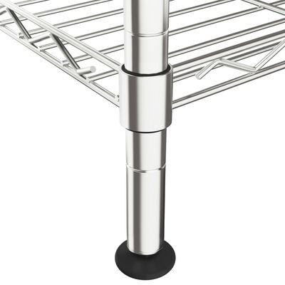 vidaXL Étagère de rangement 5 niveaux 90x35x180 cm Chrome 250 kg