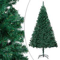 vidaXL Arbre de Noël artificiel avec branches épaisses Vert 210 cm PVC