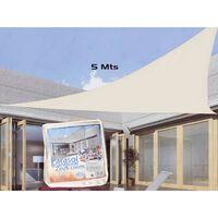 Triangle de toile d'ombrage - auvent hydrofuge résistant aux UV -