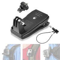 Pince de sac à dos pour GoPro avec câble antivol