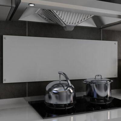 vidaXL Dosseret de cuisine Blanc 120 x 40 cm Verre trempé