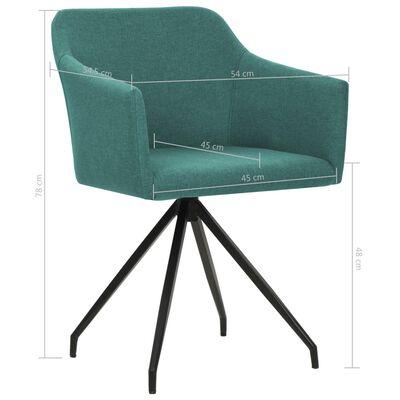 vidaXL Chaises pivotantes de salle à manger 2 pcs Vert Tissu