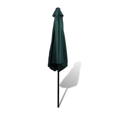 Parasol vert avec poteau en acier 3m