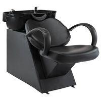 vidaXL Chaise de salon avec lavabo Noir Similicuir