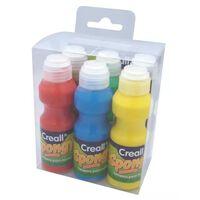 Peinture à l'éponge pour enfant 6 flacons mousse - Creall