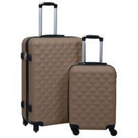 vidaXL Ensemble de valises rigides 2 pcs Marron ABS