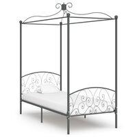 vidaXL Cadre de lit à baldaquin Gris Métal 100 x 200 cm