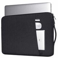 Sacoche pour ordinateur portable 14,1 pouces en toile - noir