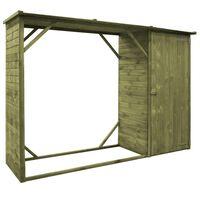 vidaXL Abri d'outils de jardin Pin 253 x 80 x 170 cm