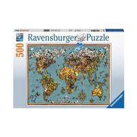 Puzzle 500 p - Mappemonde de papillons