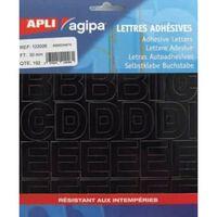 Alphabet et symboles Autocollant 30 x 22 mm Noir - APLI AGIPA