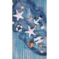 Good Morning Serviette de plage KEVIN 100x180 cm Bleu