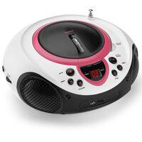 Lenco Radio et lecteur CD SCD-38 Rose et blanc A001219