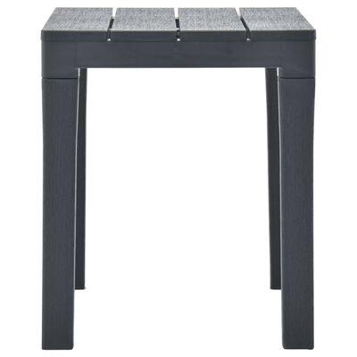 vidaXL Table de jardin avec 2 bancs Plastique Anthracite