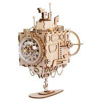 Robotime Kit de maquette de boîte à musique Steampunk Submarine
