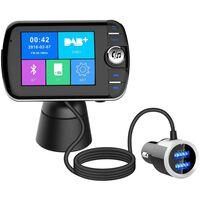 Émetteur FM LCD sans fil Bluetooth avec mains libres USB MP3 pour la v