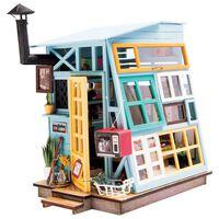 Robotime Kit de maquette Wooden Hut avec lumière LED