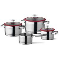 CUISINOX Ensemble d'ustensiles de cuisine 4 pcs Argenté et rouge