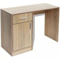 vidaXL Bureau avec tiroir et placard 100 x 40 x 73 cm Chêne
