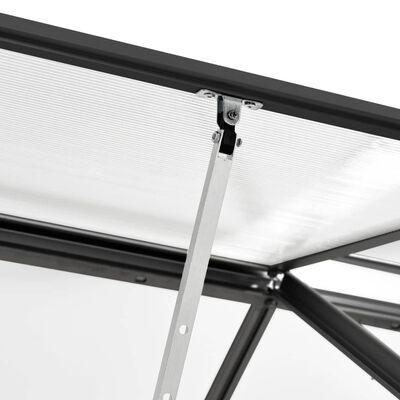 vidaXL Serre Anthracite Aluminium 4,75 m²