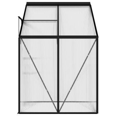 vidaXL Serre Anthracite Aluminium 2,59 m³