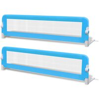 vidaXL Barrière de lit de sécurité pour tout-petits 2pcs Bleu 150x42cm
