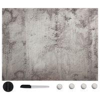 vidaXL Tableau noir magnétique mural Verre 80x60 cm