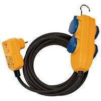 Brennenstuhl Câble protégé 4 voies RCD avec bloc d'alimentation 10 m