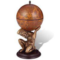 vidaXL Bar sous forme de globe Atlas 42 x 42 x 85 cm