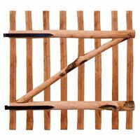 vidaXL Portillon de clôture Bois de noisetier imprégné 100 x 100 cm