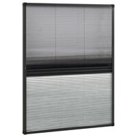 vidaXL Moustiquaire plissée pour fenêtre Aluminium 80x100 cm et auvent
