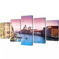 Set de toiles murales imprimées Venise 100 x 50 cm