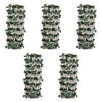 vidaXL Clôtures treillis de saule 5pcs feuille artificielle 180x120 cm
