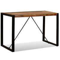vidaXL Table de salle à manger Bois de récupération massif 120 cm
