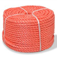 vidaXL Corde torsadée Polypropylène 10 mm 250 m Orange