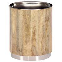 vidaXL Table basse 38 x 45 cm Bois de manguier solide