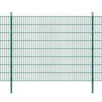vidaXL Panneaux et poteaux de clôture 2D pour jardin 2008x1630 mm 24 m