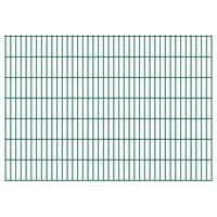 vidaXL Panneaux de clôture de jardin 2D 2,008x1,43 m 12 m total Vert