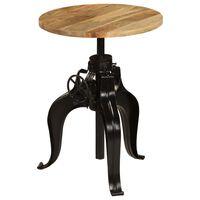 vidaXL Table de bar Bois de manguier massif 60 x (76-110) cm