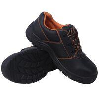 vidaXL Chaussures de sécurité Noir Pointure 46 Cuir